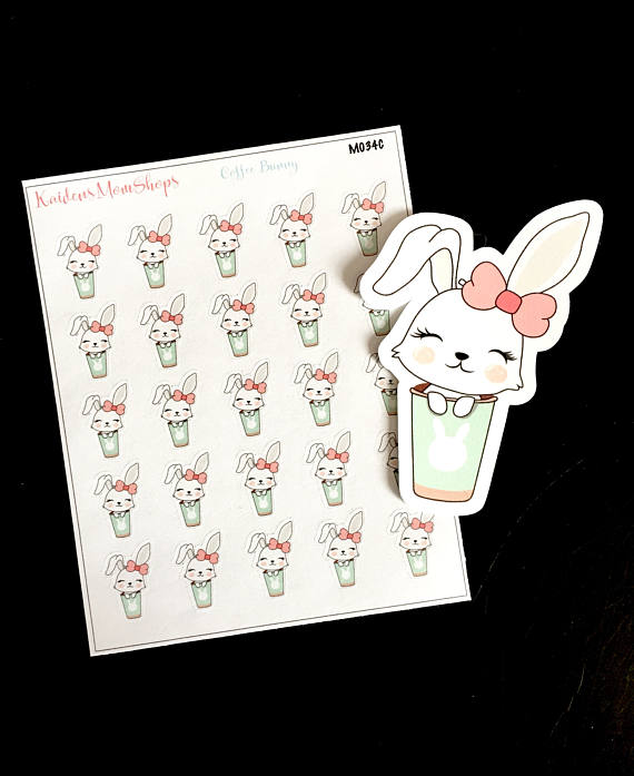 Planner clipart 3 ring. Lilly bunny coffee mini