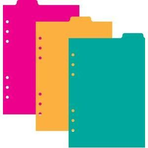 Planner clipart 3 ring. A top tab dividers