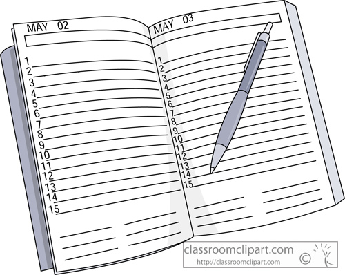 Planner clipart. Daily