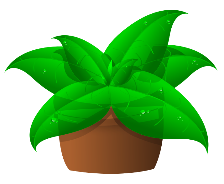 Plant clipart potted plant. Green