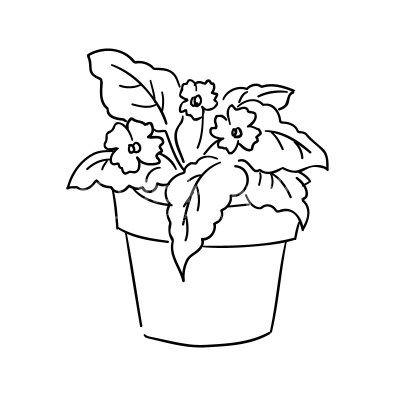 Design elements stock graphics. Plant clipart potted plant svg stock