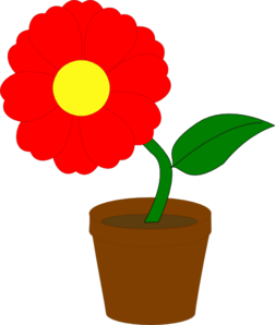 Plant clipart potted plant. Flower
