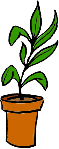 Plants clipart. Potted plant panda free