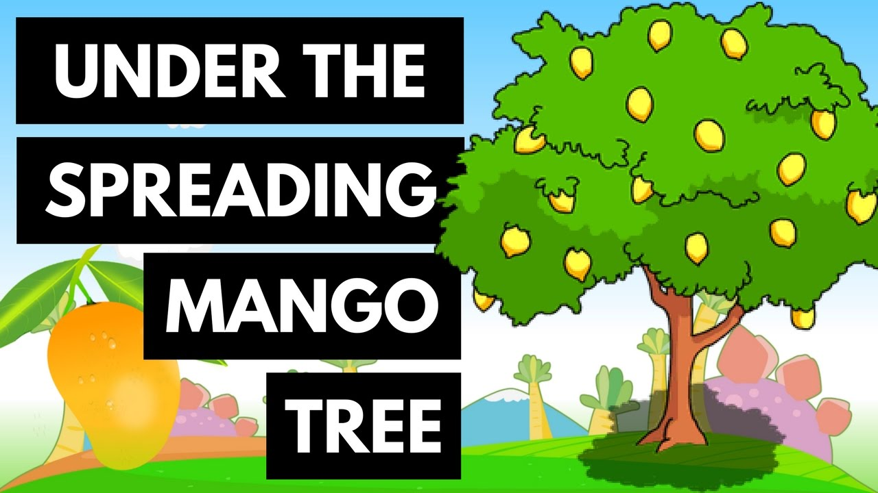 Plants clipart mango tree. Under the spreading children