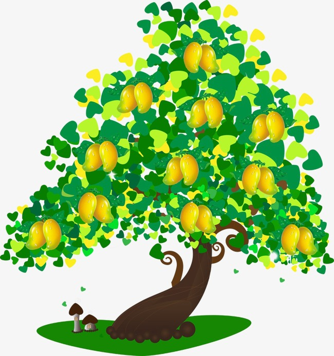 Plants clipart mango tree. Cartoon mushroom png image