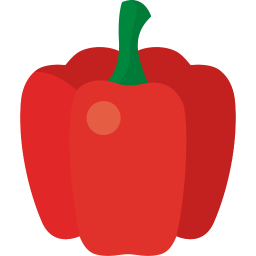 Plants clipart sweet pepper. Food icon myiconfinder