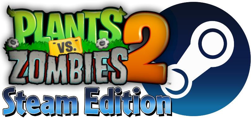 Plants vs zombies 2 logo png. Steam edition character pvzsteamlogo