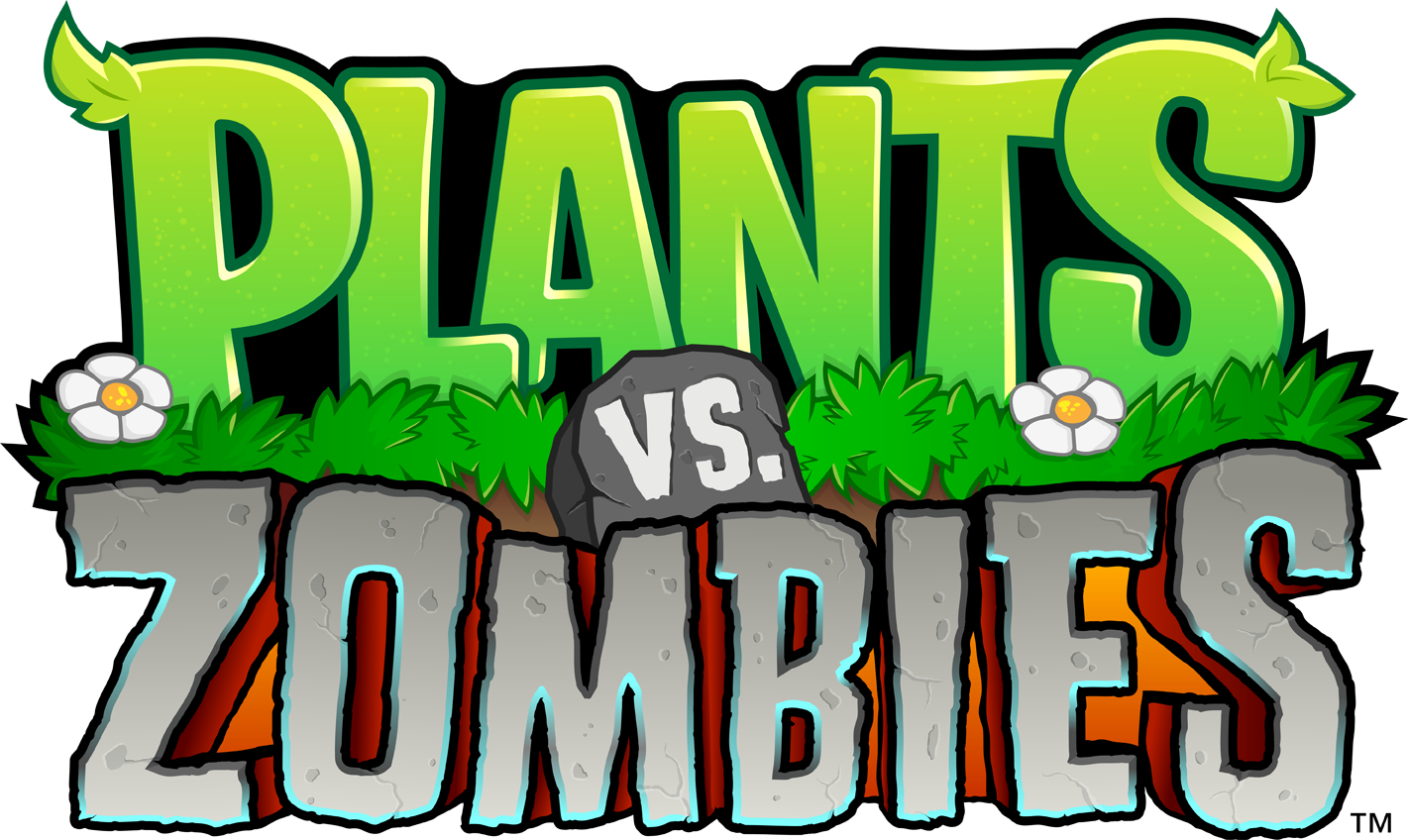 Plants vs zombies 2 logo png. Image pvz stacked rgb