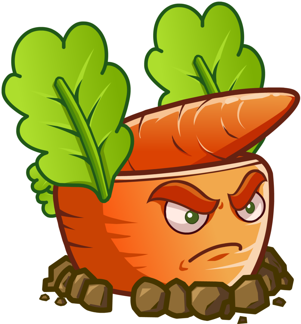Plants vs zombies characters png. Image carrot rocket launcher
