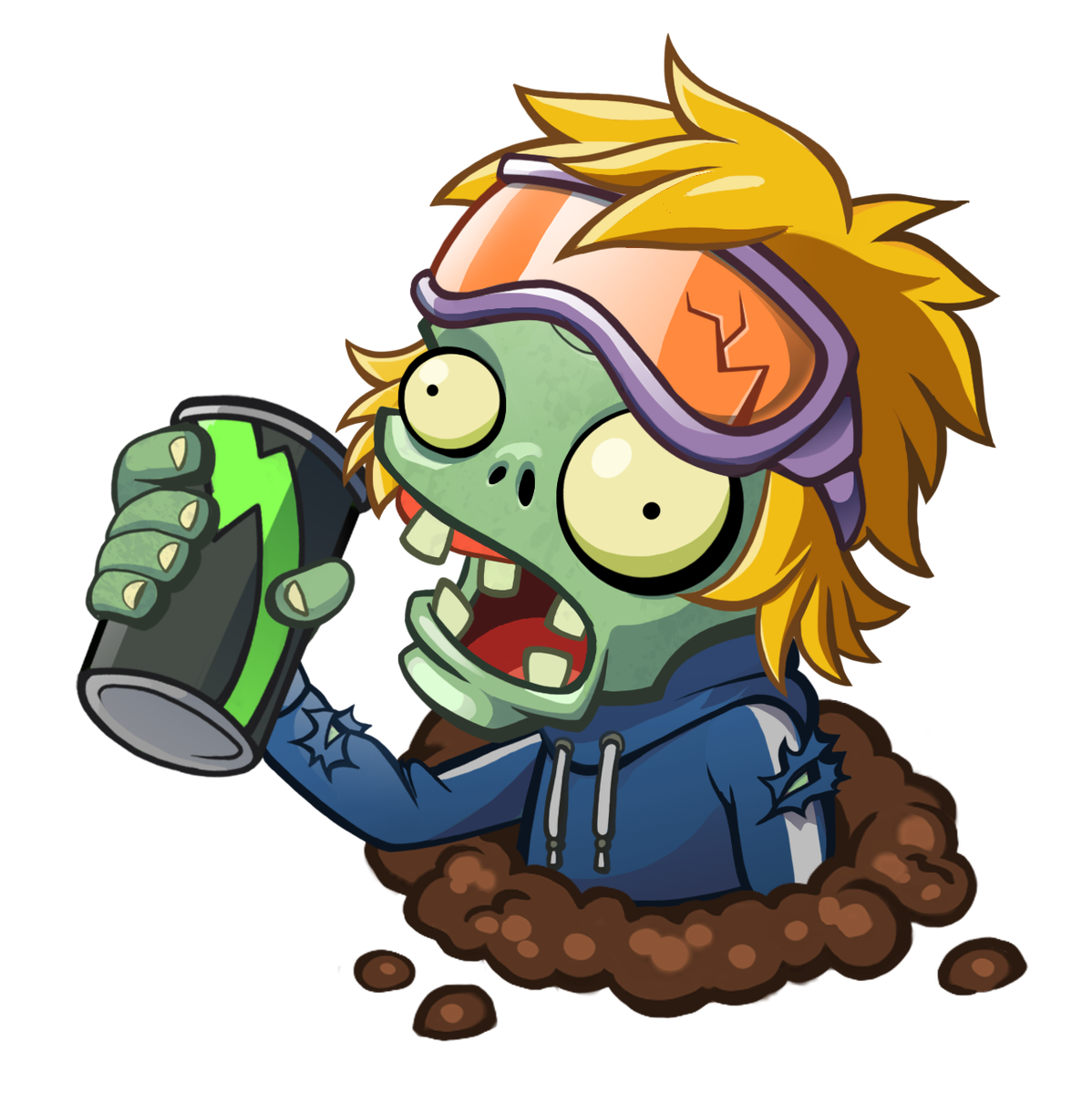 Plants vs zombies heroes png. On twitter energy drink