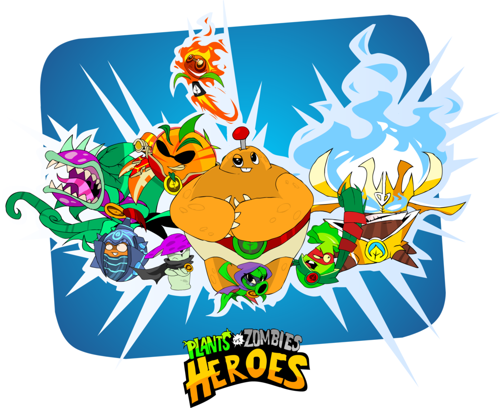 Plants vs zombies heroes png. The by devianjp on