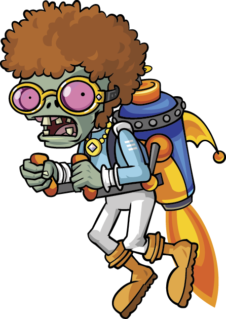 Plants vs zombies zombie characters png. Jetpack disco the zombi