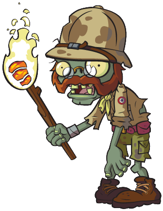 Plants vs zombies zombie characters png. Explorer character design pinterest