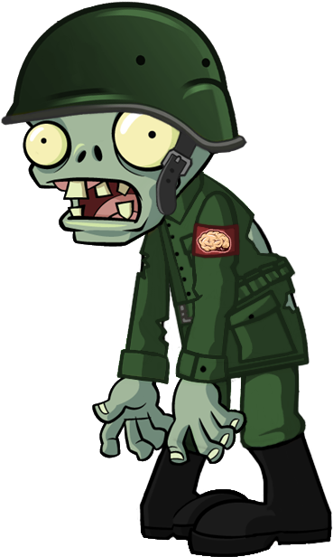 Plants vs zombies zombie png. Download hd military transparent