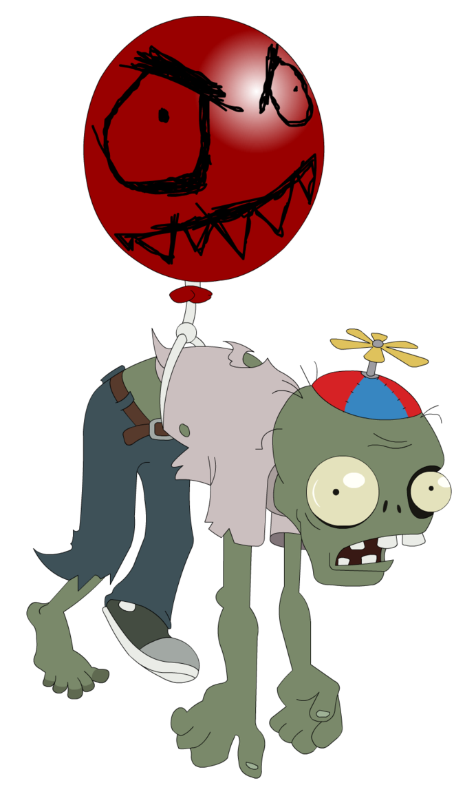 Plants vs zombies zombie png. Balloon by flash gavo