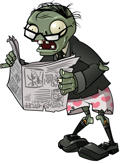 Plants vs zombies zombie png. Image newspaper wiki fandom