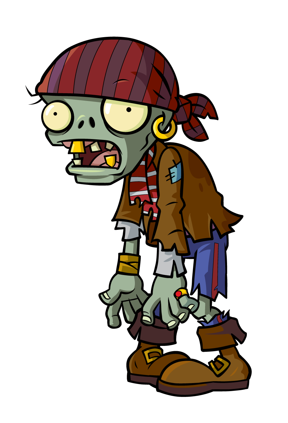 Plants vs zombies zombie png. Image pvz pirate copy