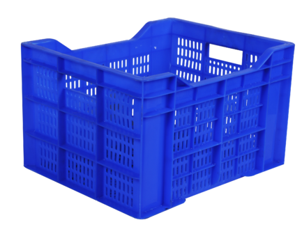 Plastic crate png. Multi virgin or recycled