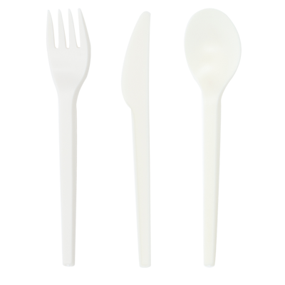 Plastic fork png. Compostable plant starch utensils