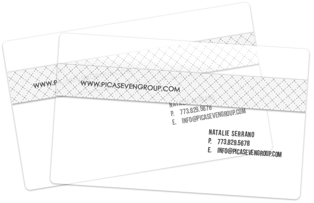 Plastic white business cards png. Chicago card printing thick
