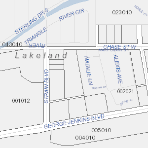 Plat drawing property. Search area map open