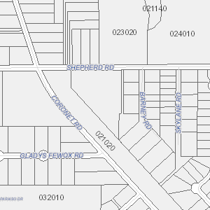 Plat drawing residential. Property search area map