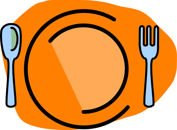 Plate cartoon png. Fork spoon no text
