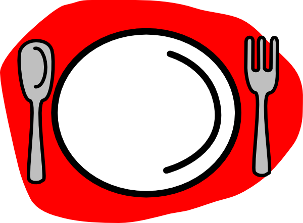 Plate cartoon png. Spoon fork clip art