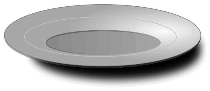 Plate clipart oval plate. Empty panda free images