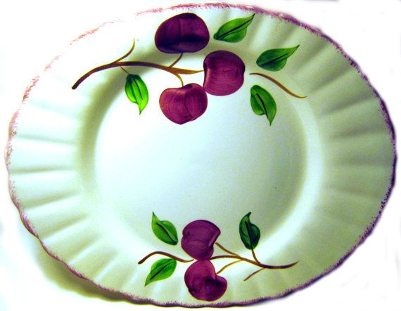 Plate clipart oval plate. Blue ridge southern potteries