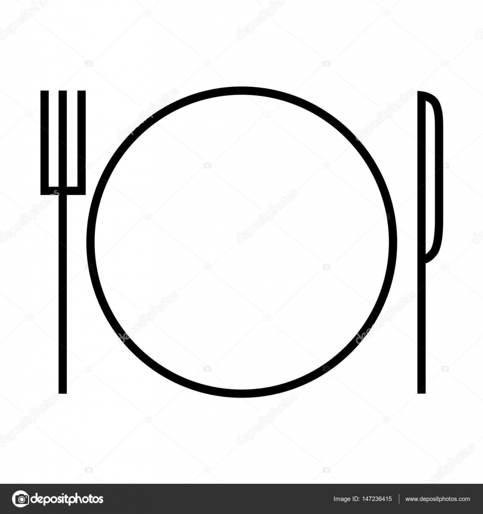 Plate clipart plate outline. Icon stock vector julia