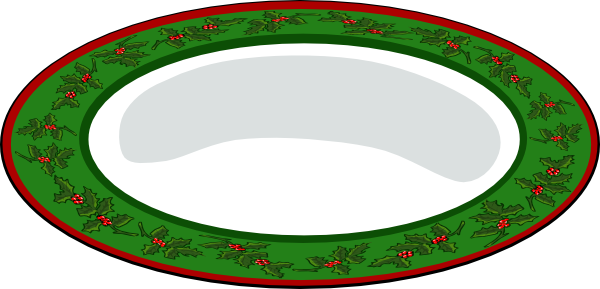 Plate clipart plate outline. Green with red clip