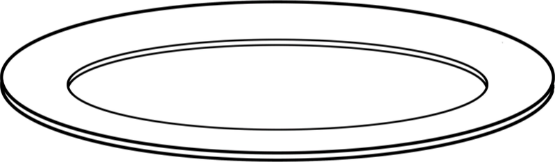 Plate clipart plate outline. Medium image png