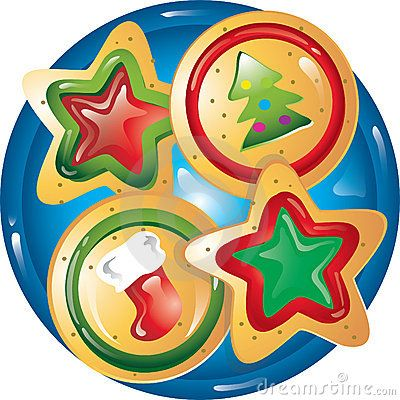 Plate clipart used. Best christmas cookies