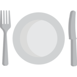 Plate emoji png. Fork and knife