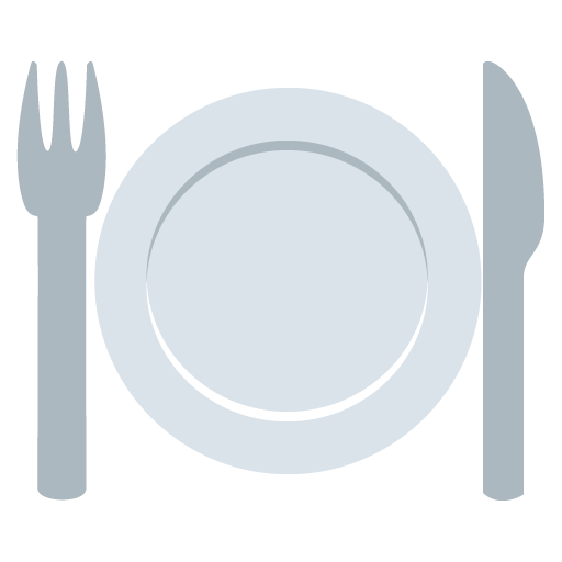 Plate emoji png. Fork and knife with