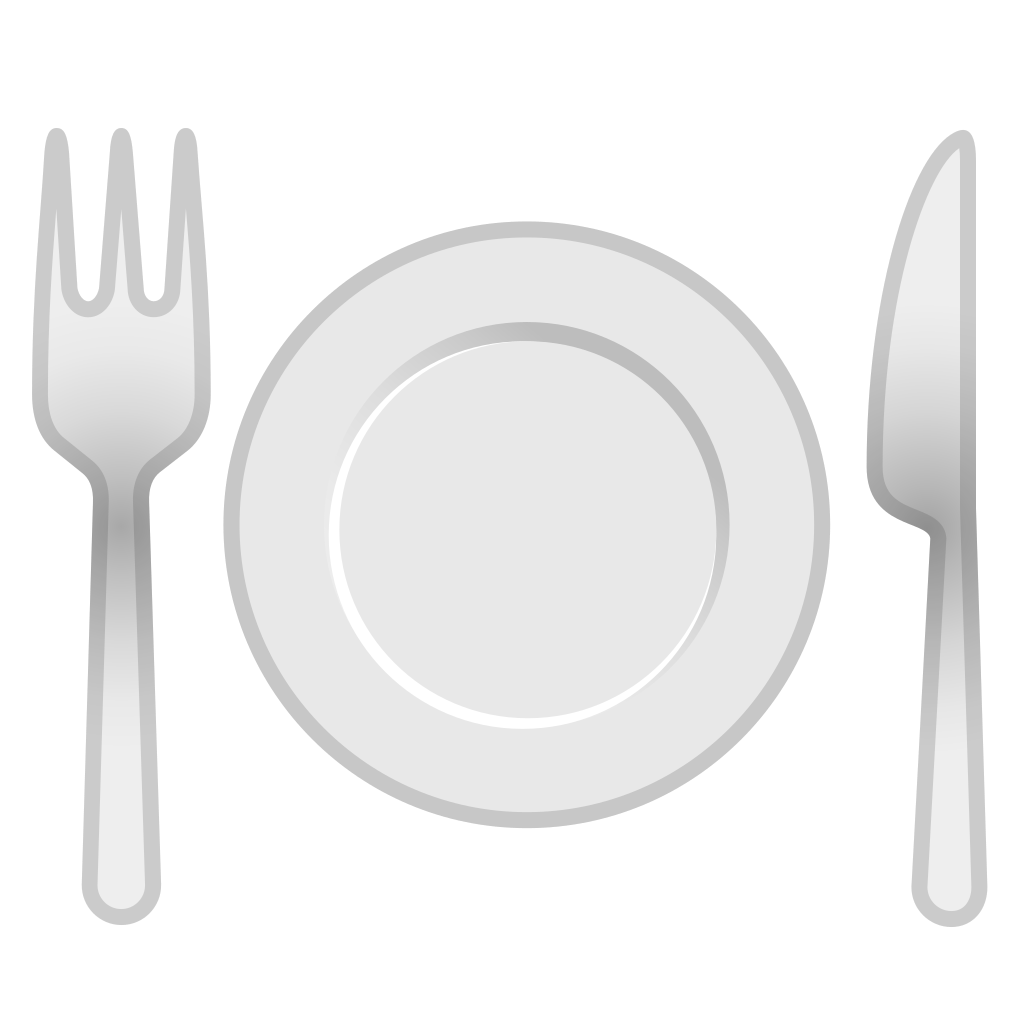 Plate fork png. And knife with icon