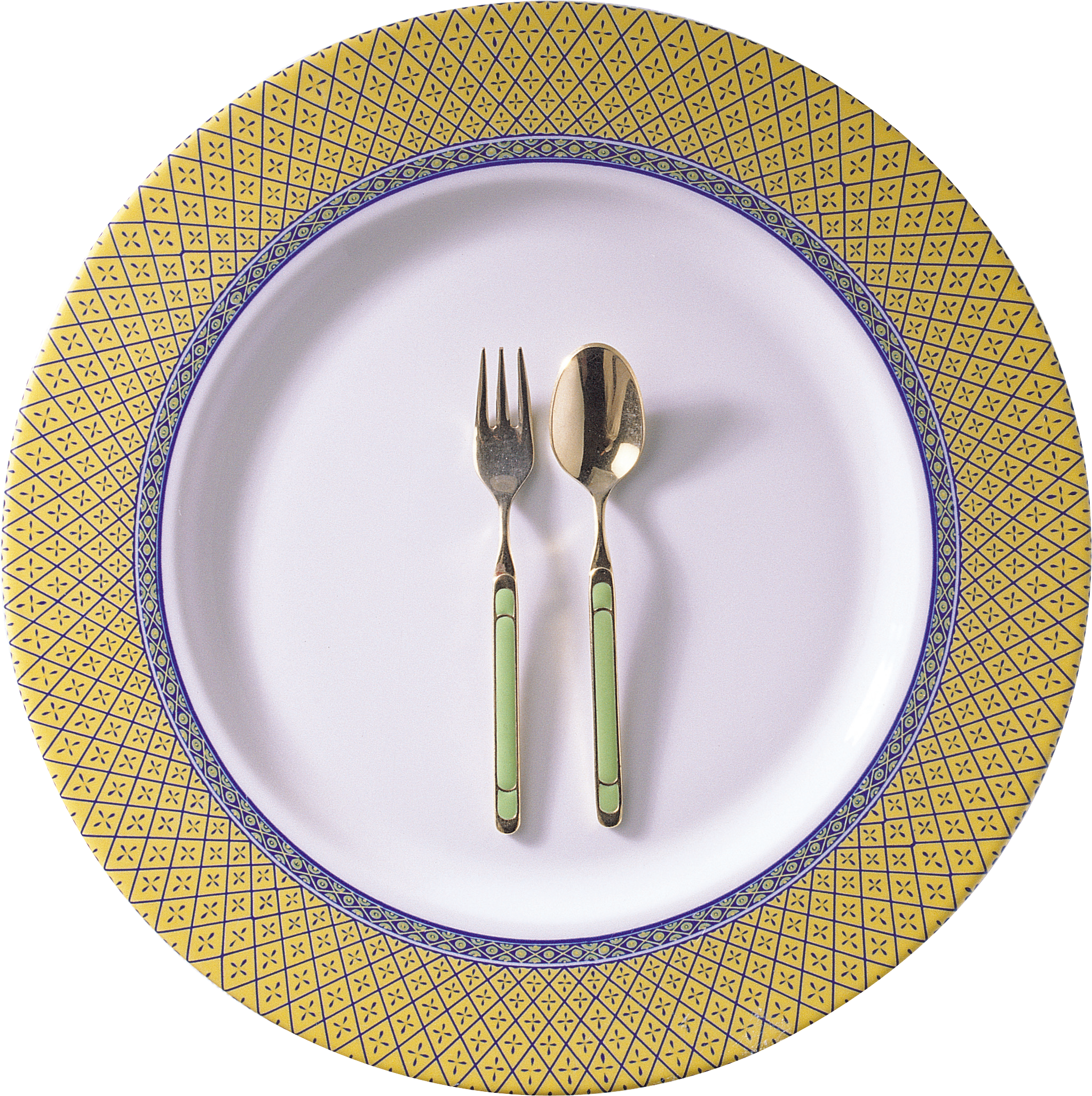 Plate fork png. With spoon and isolated
