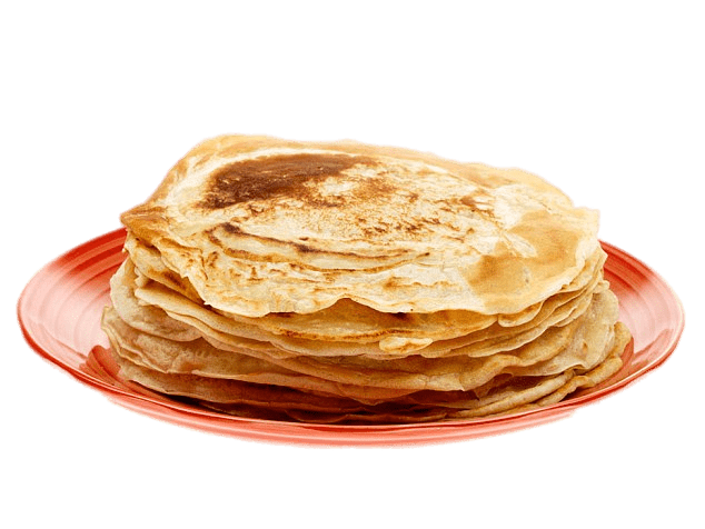 Plate of food png. Pancake on transparent stickpng