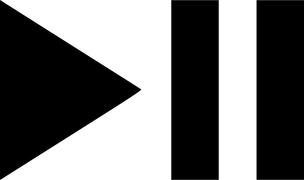 play triangle white png