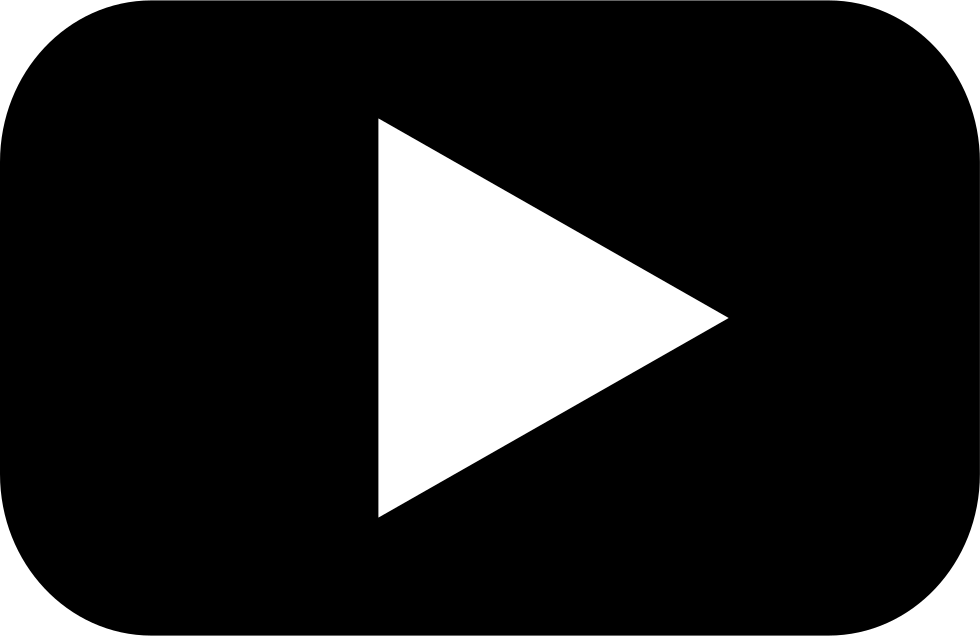 White youtube play button png. Svg icon free download