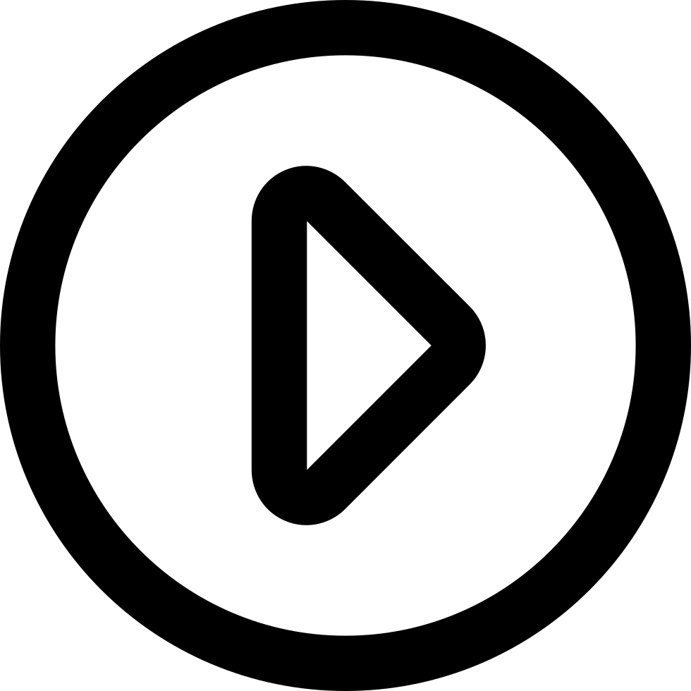 Play button png white. Video svg icon free