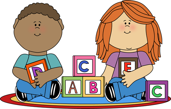 Play clipart blocks. Kids playing with clip