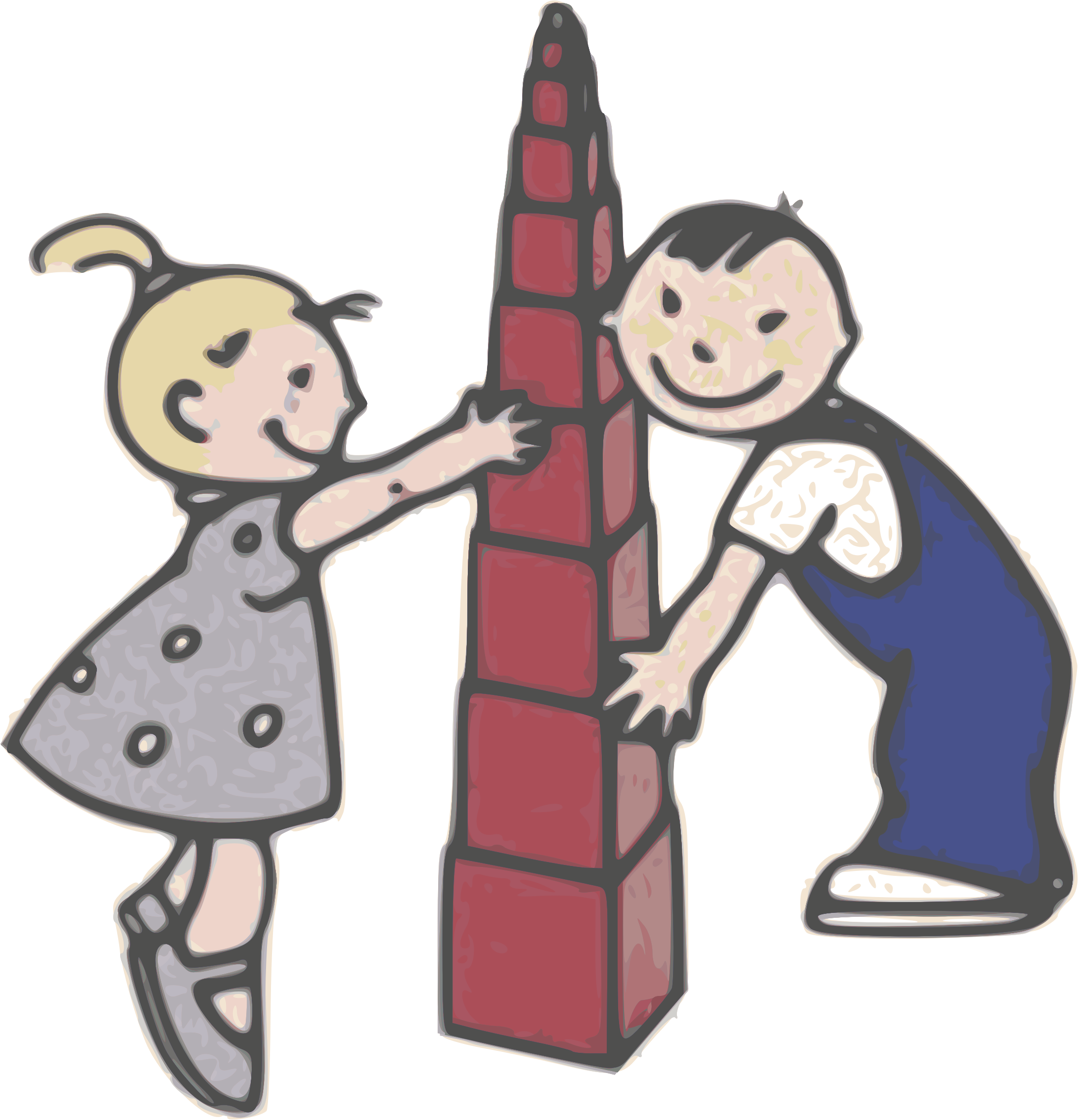 Blocks clipart toy kids sharing. Play with tower giancarlo