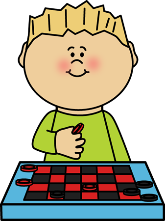 Dice clipart kid. Boy playing checkers clip