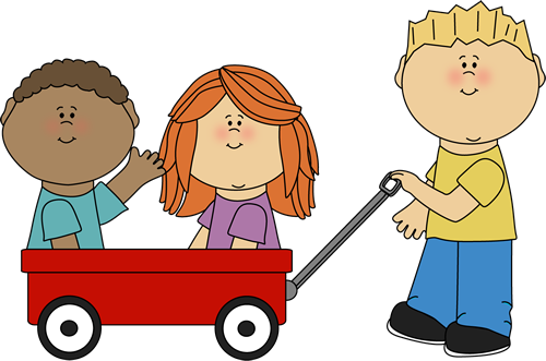 Wagon vector animated. Kids clip art images