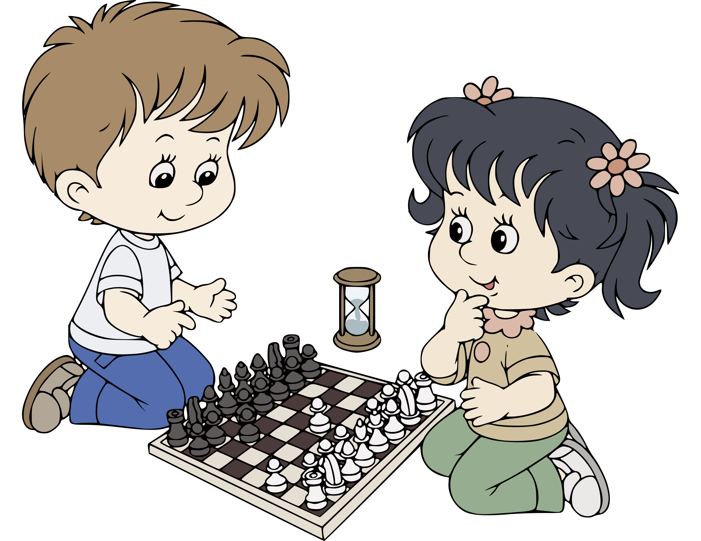 Chess clipart kid chess. Kids playing big image