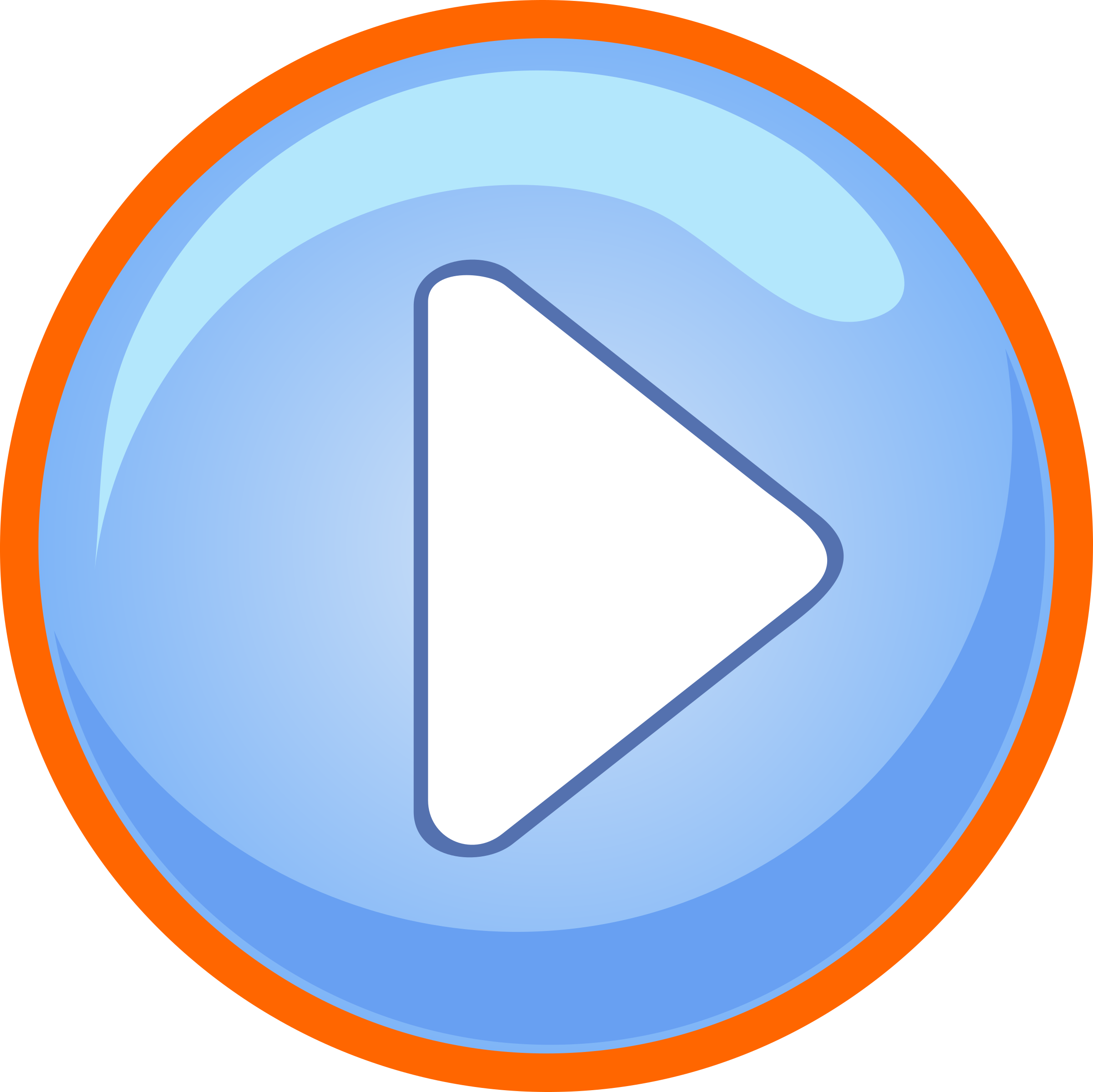 Buttons game png. Blue play button with