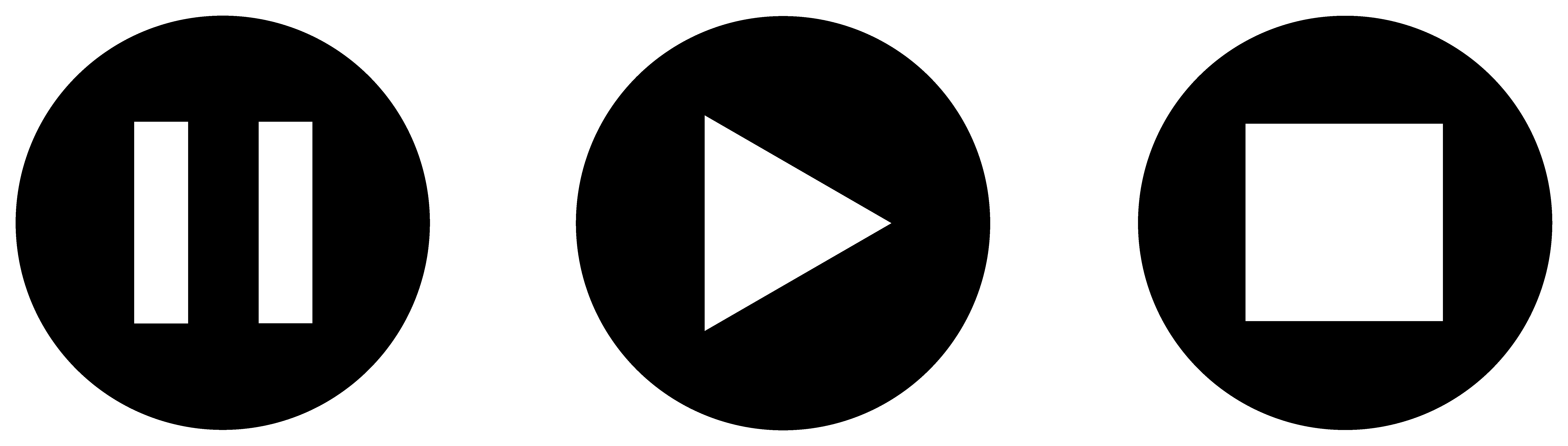 Play pause icon png. Button transparent pictures free