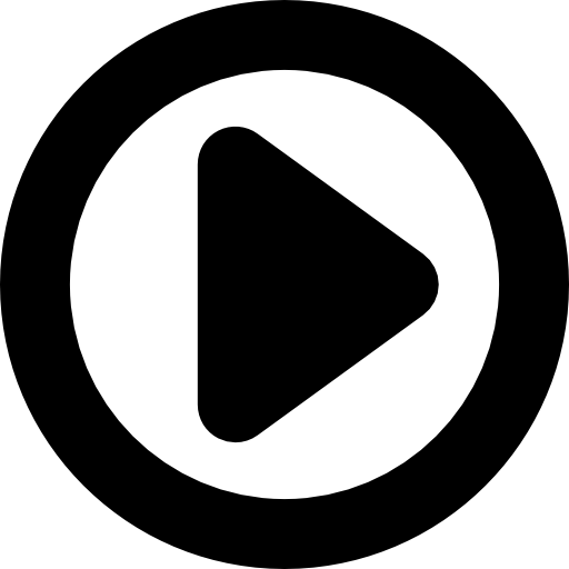 Play movie button with a triangle in a circle